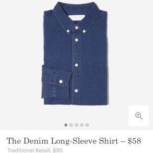 Everlane Indigo Denim Shirt